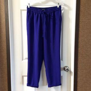 J.Crew Royal Blue Drapey Drawstring Pant size 6